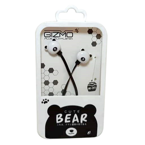 Gizmo <br> Earphones with Microphone <br> Bear Design