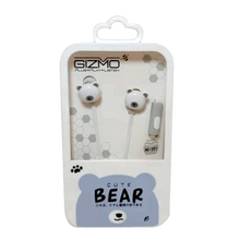 Load image into Gallery viewer, Gizmo <br> Earphones with Microphone <br> Bear Design