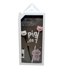 Load image into Gallery viewer, Gizmo <br> Earphones with Microphone <br> Pig Design