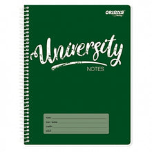 Load image into Gallery viewer, Orions <br> Spiral Notebook, UNIVERSITY NOTES <br> 8X10.5 inches 80 leaves