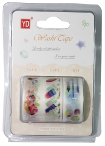 Decorative/Washi Tape <br> Nature Series 1 inch (W), <br> Pack of 3
