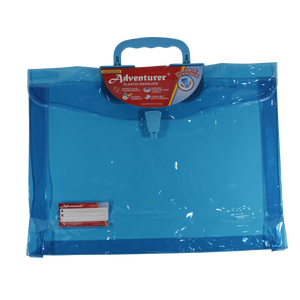 Adventurer <br> Neon-Colored Plastic Expanding Envelope <br> with Handle ( 2 inches Depth)