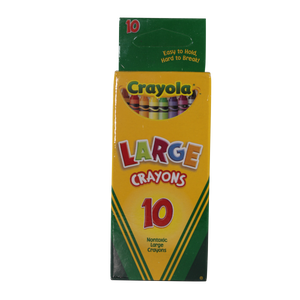Crayola <br> Big Crayons, 10 Counts