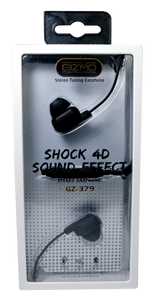 Gizmo Earphones with Microphone Rubber Metallic
