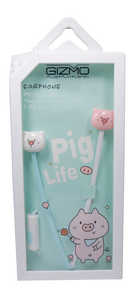 Gizmo <br> Earphones with Microphone <br> Pig Design