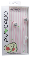 Load image into Gallery viewer, Gizmo <br> Earphones with Microphone <br> Avocado Design
