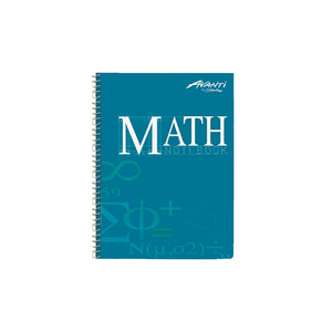 Avanti <br> Math Notebook <br> 6X8.5 inches 100 leaves