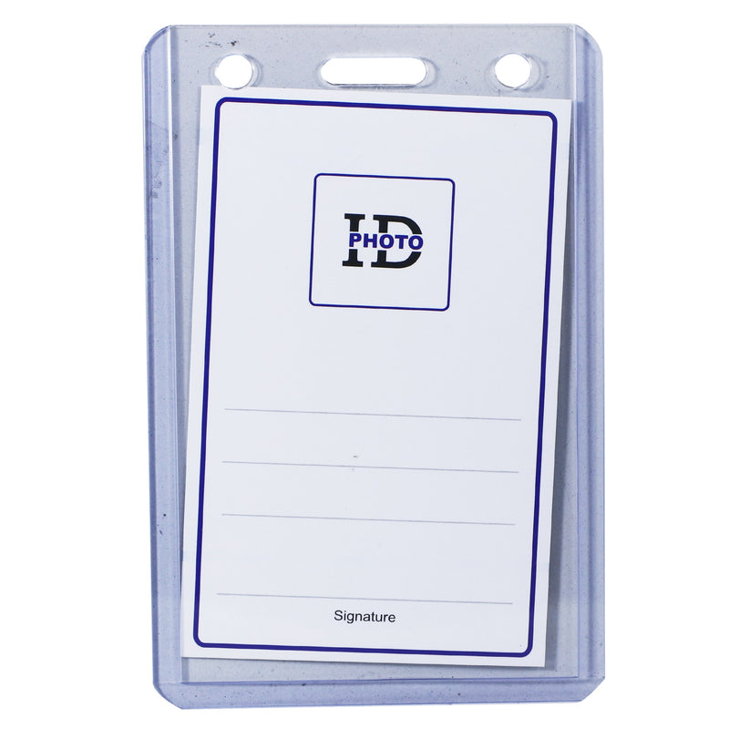 ID CARD CASE, HV67  Portrait ( V ) Clear, 9x 5.5CM