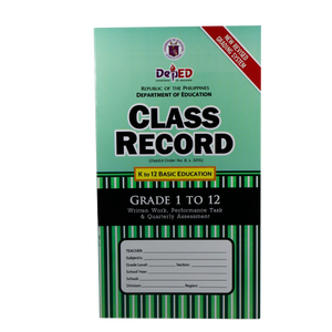 Class Record <br> K-12 High School