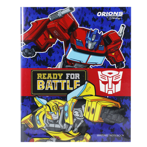 Orions <br> Writing Notebook, TRANSFORMERS <br> 5.8X7.8 inches 80 leaves