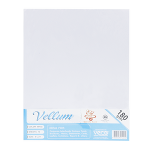 Elit <br> Specialty Paper Pack of 10, <br> 8.5x11 Inches, VELLUM WHITE