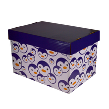 Load image into Gallery viewer, Fairfax <br> Storage Box with Prints <br> Coated Board ( Glossy ) <br> 15x10x9 inches