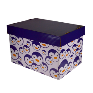 Fairfax <br> Storage Box with Prints <br> Coated Board ( Glossy ) <br> 15x10x9 inches