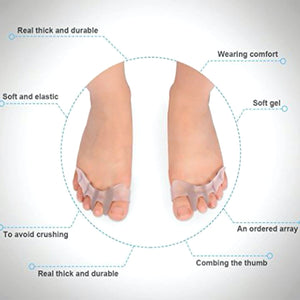 3 Pairs Of Gel Toe Separators For Men & Women