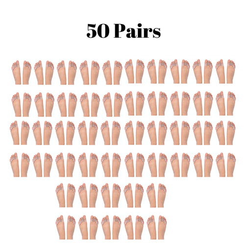 Bulk Wholesale 50 Pairs of Gel Toe Separators For Men & Women