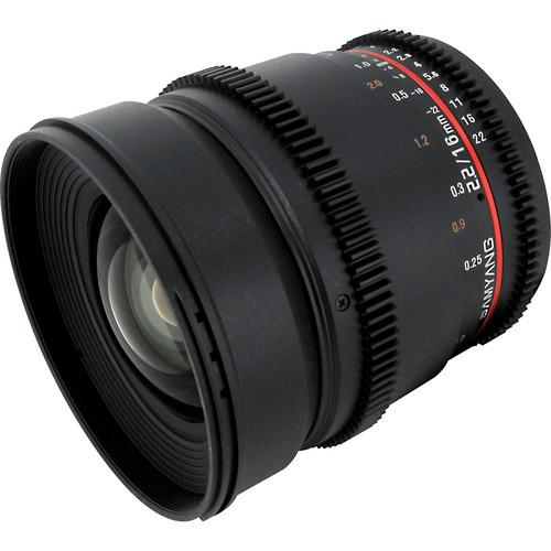 Samyang 16mm T2.2 Vdslr ED AS UMC CS