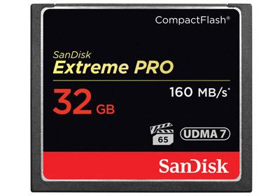 SanDisk 32GB Extreme Pro Compact Flash - 160mb/s (SDCFXPS-032G-X46)
