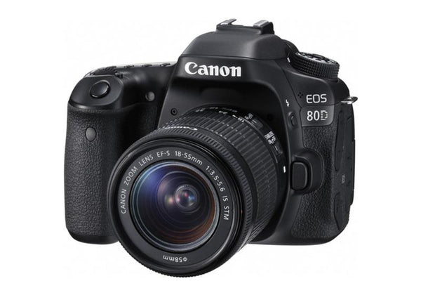 Canon EOS 80D with EF-S 18-55mm f/3.5-5.6 IS STM Lens Kit
