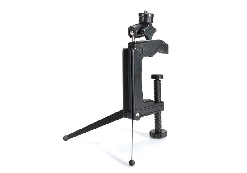 Unique Mini Swiveling C-Clamp Metal Tripod Stand for Camera Camcorder
