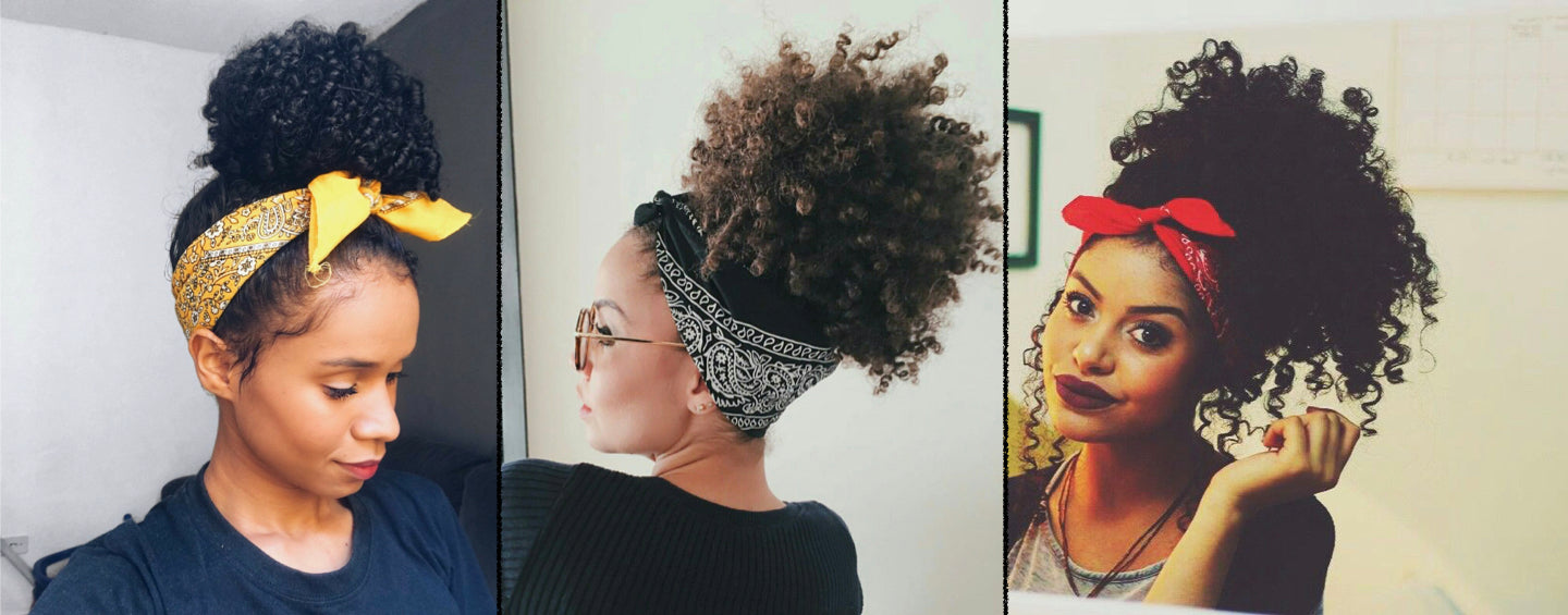 Hoher Afro Updo