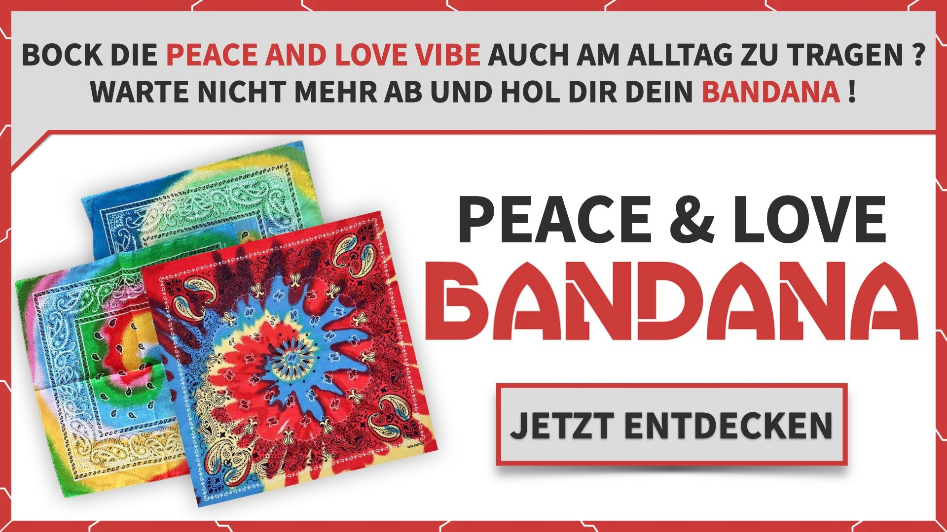 Peace and Love Bandana