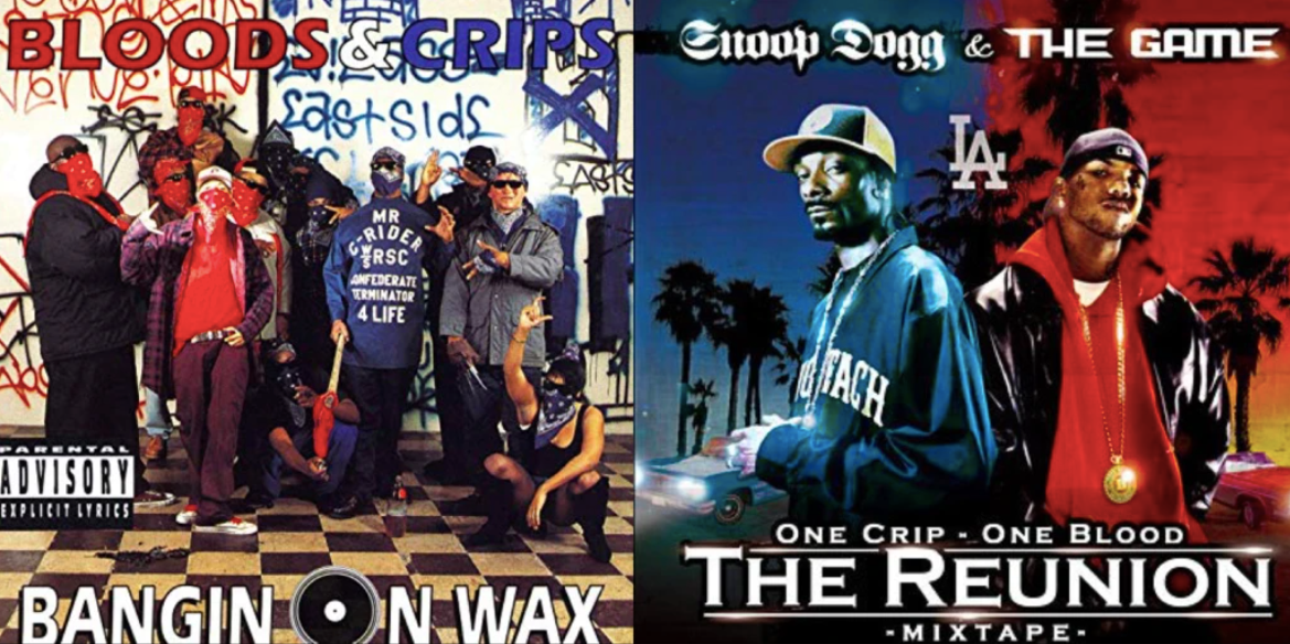 which rappers are bloods and crips