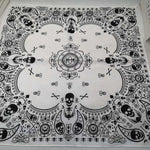 Black and White Bandana Skull