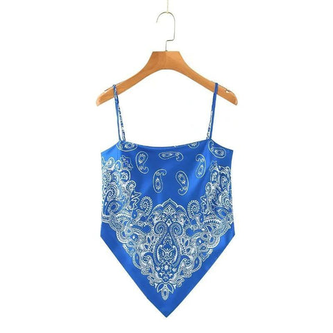Blue Bandana Top | King Bandana