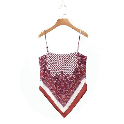 Bordeaux Bandana Top | King Bandana