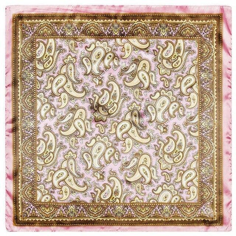 Gold & Pink Paisley Tuch