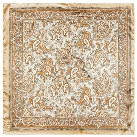 Gold Paisley Tuch