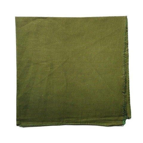 Plain Olive Green Bandana