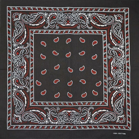 Black Red White Bandana