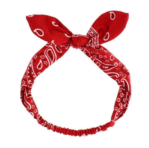 Red Haarband Bandana