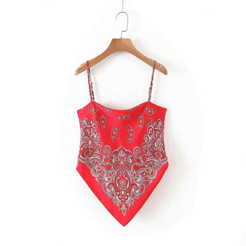 Red Paisley Bandana Top | King Bandana