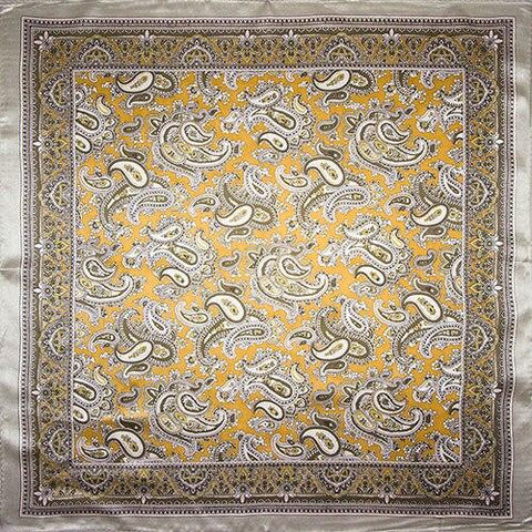 Yellow & Silver Paisley Tuch