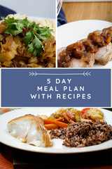 5 day Weekly Meal Plan