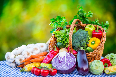 Healthy colurful vegetables on a table