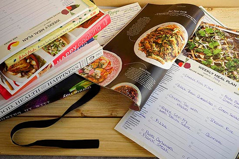 meal planner and recipe books