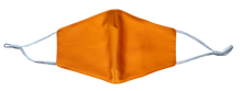 Load image into Gallery viewer, Pack of 2 MaskEssentials® Reusable Face Mask with Filter Pocket Double-Layered Cotton Tangerine Orange