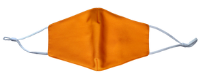 Pack of 2 MaskEssentials® Reusable Face Mask with Filter Pocket Double-Layered Cotton Tangerine Orange