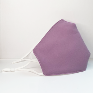 MaskEssentials® Reusable Face Mask with Filter Pocket Double-Layered Cotton Lavender Purple