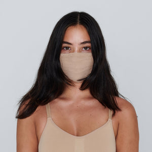 SKIMS Seamless Face Mask | Clay