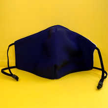 Load image into Gallery viewer, MaskEssentials® Reusable Face Mask with Filter Pocket Double-Layered Cotton Navy Blue