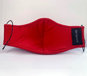 John Herrera Neoprene Reusable Face Mask Red