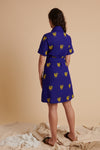 Blue Rooster Linen Shirt Dress