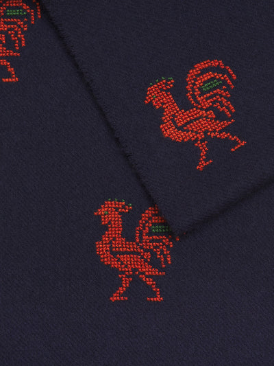 Rooster Cashmere Mix Scarf