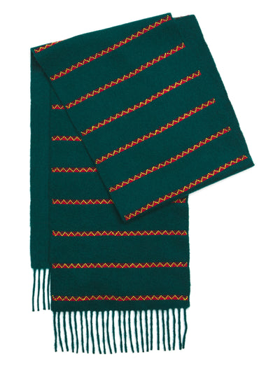 Triangle Striped Cashmere Scarf