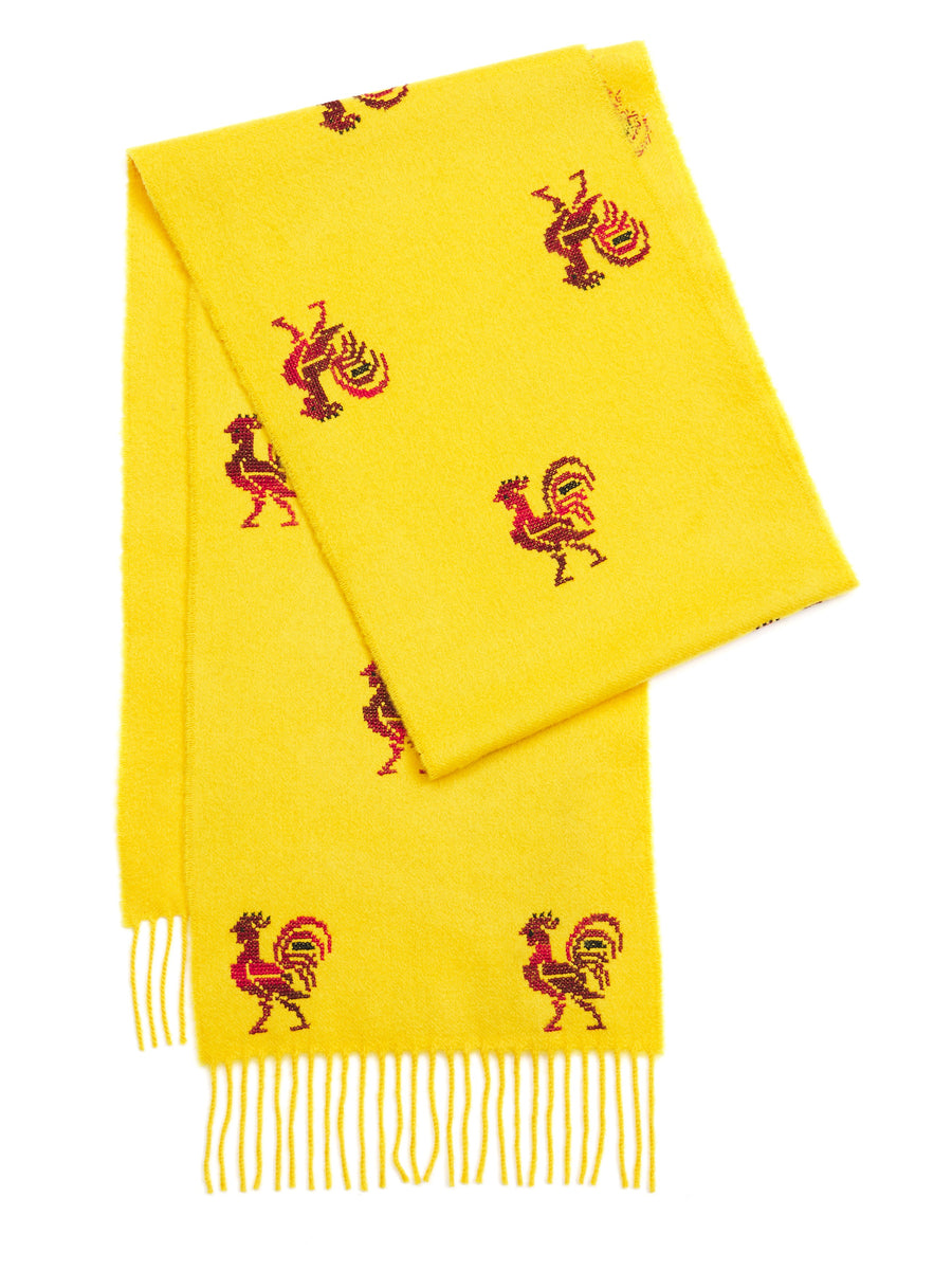 Two Tone Rooster Cashmere Scarf