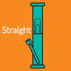 Straight bong or water pipe graphic